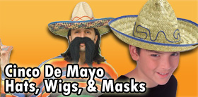 Cinco De Mayo Hats, Wigs and Masks