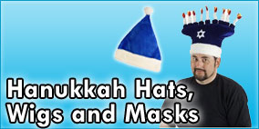 Hanukkah Hats, Wigs and Masks