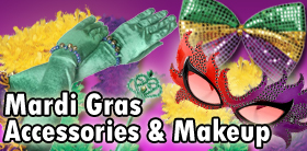 Mardi Gras Accessories and Makeup