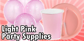 Light Pink Party Supplies