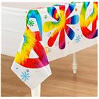 Tie Dye Fun Plastic Tablecover