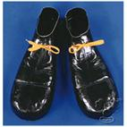 Black Plastic Clown Shoes